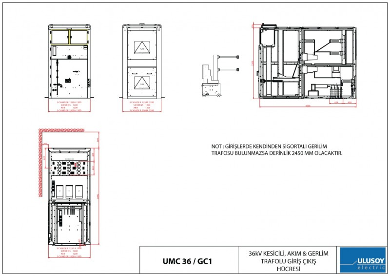 UMC 36 Kesicili Akım ve Gerilim Trafolu Giriş-Çıkış Hücresi