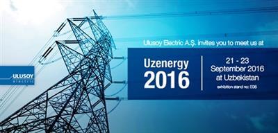 21-23 Eylül tarihleri arasında Özbekistan'ın başkenti Taşkent'te düzenlenen 11. Uluslararası Enerji Fuarı Uzenergy Expo'ya katıldık