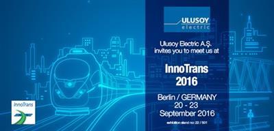 Ulusoy Elektrik Innotrans Berlin Fuarı'nda