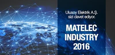Ulusoy Elektrik Matelec 2016 Fuarı'nda