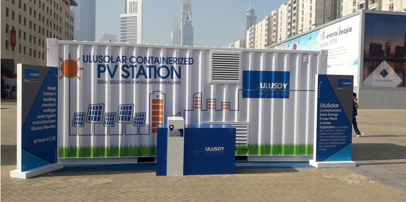 UluSolar Serisi Konteynır Güneş Enerji Santrali Inverterli Trafo Merkezi