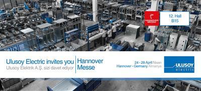 Ulusoy Elektrik'in Yeni Ürünü Kuru Tip Trafo Hannover Messe'de Tanıtılacak