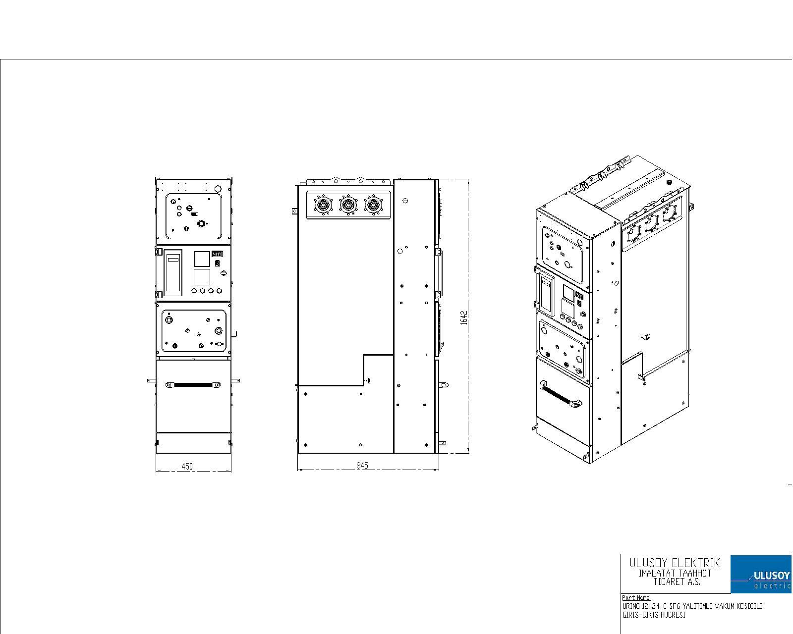 URING Serisi SF6 Komple Gaz Yalıtımlı Modüler Hücre
