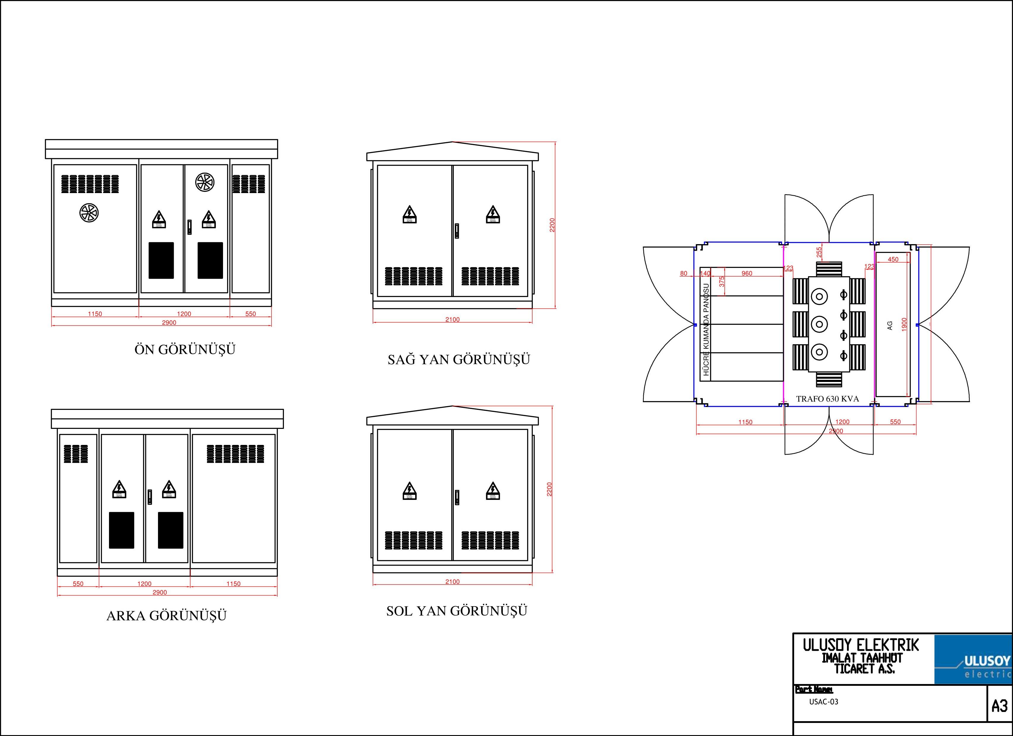 USAC Serisi Kompakt Sac Trafo Merkezi